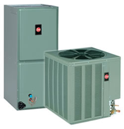2 ton Rheem Value Series 14AJM 16 SEER Condensing Unit (+ RHSL Air Handler)